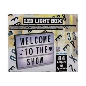 LED LIGHT BOX Işıklı Mesaj Panosu 84 Harf ve Sembol