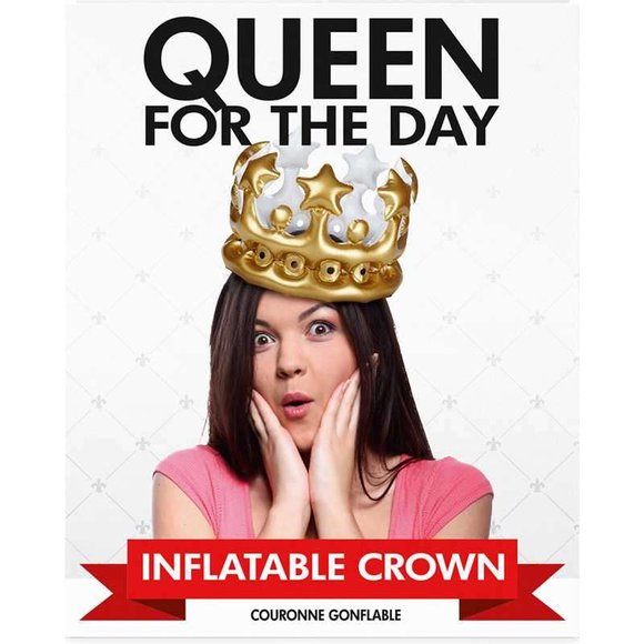 QUEEN For The Day Şişme Kraliçe Tacı