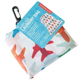 Kikkerland AIRPLANE Seyahat Kirli Çamaşır Torbası - Thumbnail
