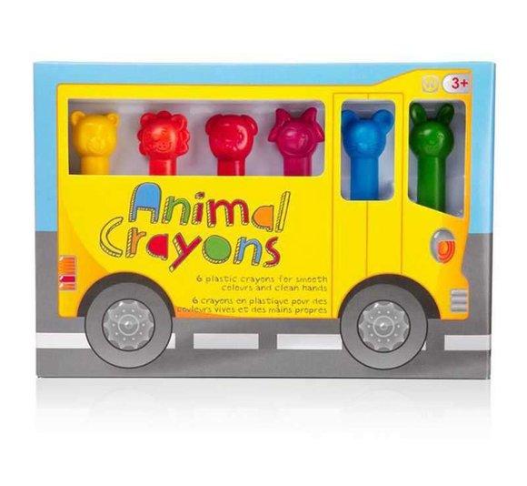 ANIMAL CRAYONS Pastel Boya Kalemleri 6 adet