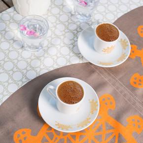 Biggdesign - B.C. 3000 Hitit 2li Türk Kahve Fincan Takımı