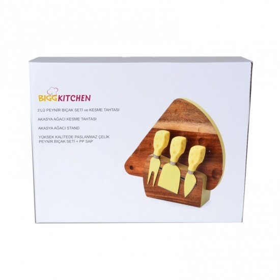 Biggkitchen 3Lü Peynir Bıçak Seti