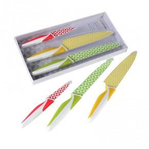 Biggkitchen Desenli 3Lü Bıçak Seti - Thumbnail