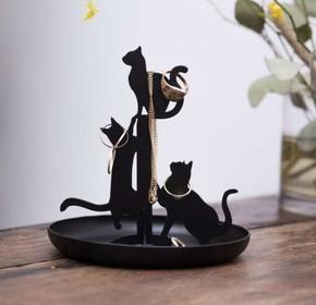 Kikkerland - Kikkerland BLACK CATS Siyah Kediler Mücevher Standı