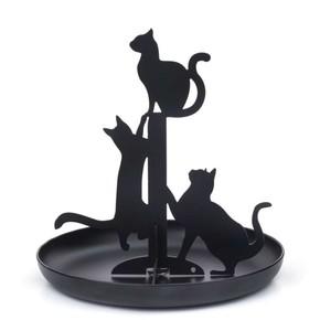 Kikkerland BLACK CATS Siyah Kediler Mücevher Standı - Thumbnail