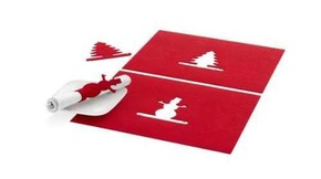 PF Concept - CHRISTMAS Kırmızı Amerikan Servis ve Peçetelik