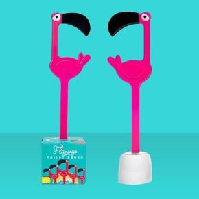 DHINK Flamingo Tuvalet Fırçası - Thumbnail