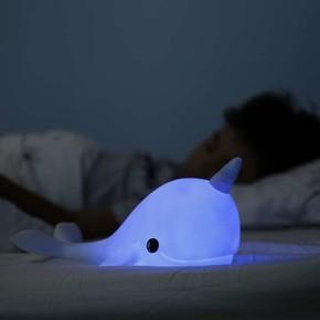 DHINK Narwhal Mavi Gece Lambası - Thumbnail