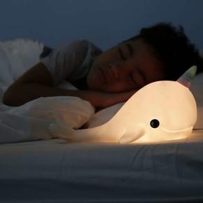 DHINK Narwhal Pembe Gece Lambası - Thumbnail