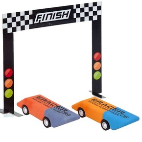 NPW - E-RACERS Kurmalı Yarış Arabası Silgi Seti
