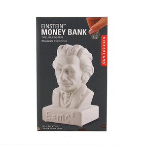 Kikkerland EINSTEIN COIN BANK Seramik Kumbara - Thumbnail