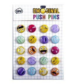 NPW - EMOJINAL PUSHPINS Emoji Pano Pin Seti – 20li Set
