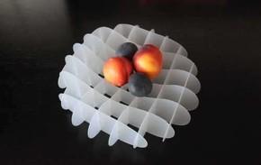 Duo Design GRID Tasarım Meyve Kasesi Saydam - Thumbnail