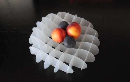Duo Design GRID Tasarım Meyve Kasesi Saydam