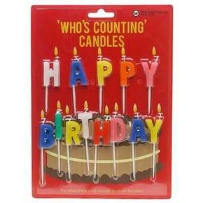 NPW - HAPPY BIRTHDAY Doğum Günü Mumları