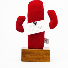 Kayıgo - Kayıgo Cactus Lavanta Dolgulu Notluk Kırmızı