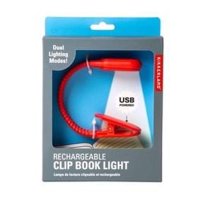 Kikkerland CLIP BOOK LIGHT Şarj Edilebilir Kitap Okuma Işığı - Thumbnail