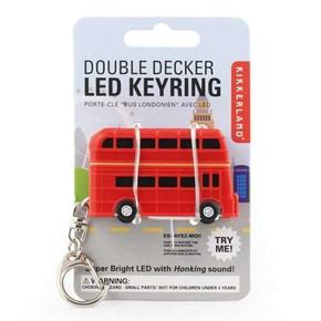 Kikkerland - Kikkerland DOUBLE DECKER BUS LED Işıklı ve Sesli Anahtarlık