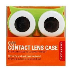 Kikkerland - Kikkerland OWL CONTACT LENS CASE Baykuş Lens Kabı Yeşil