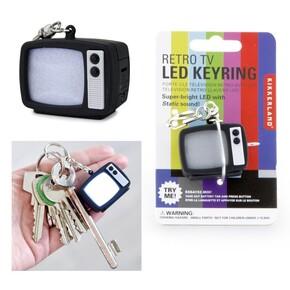 Kikkerland - Kikkerland RETRO TV LED KEYCHAIN Işıklı ve Sesli Anahtarlık