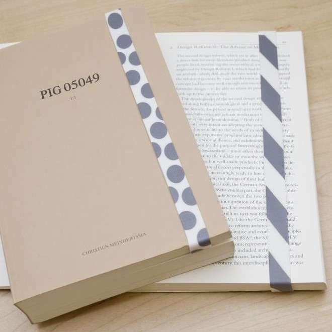 Kikkerland RUBBER BAND Lastik Bant Kitap Ayracı Gri