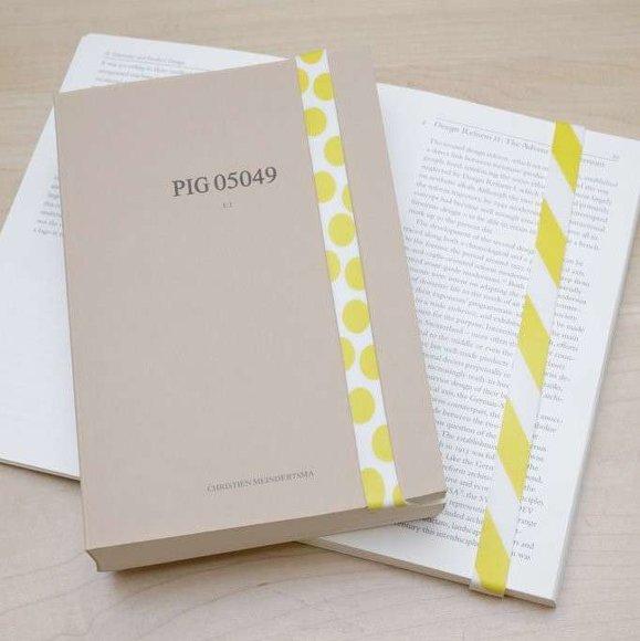 Kikkerland RUBBER BAND Lastik Bant Kitap Ayracı Sarı