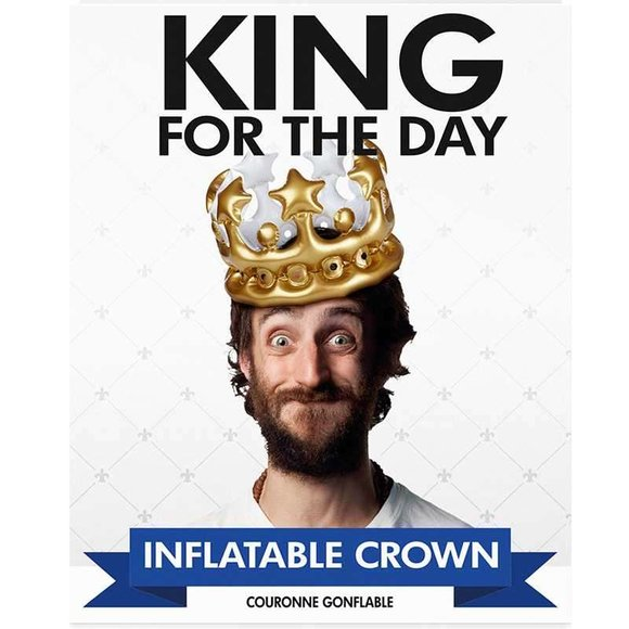 KING For The Day Şişme Kral Tacı