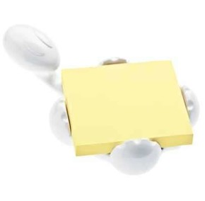 KOZIOL - Koziol 5548525 Archibald Bloknot Tutucu Beyaz