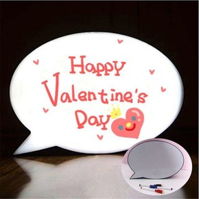 LED Bubble LIGHT BOX A4 Işıklı Konuşma Balonu Mesaj Panosu - Thumbnail