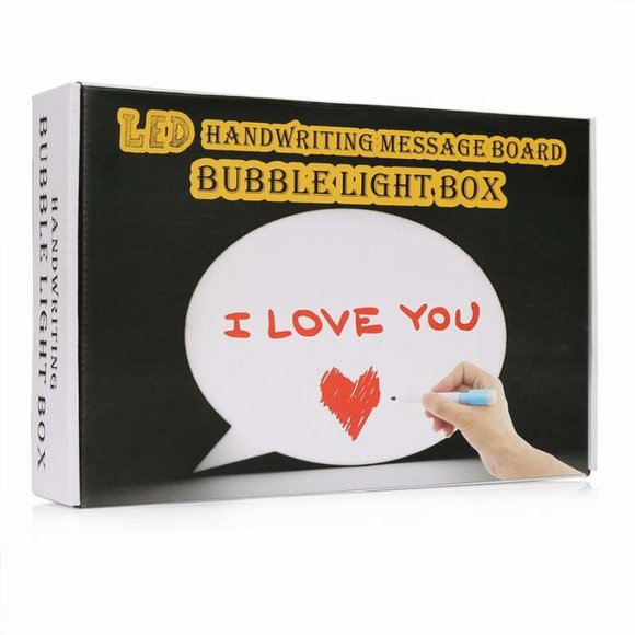 LED Bubble LIGHT BOX A4 Işıklı Konuşma Balonu Mesaj Panosu