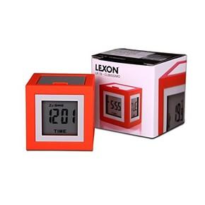 Lexon Cubissimo LCD 4 Ekran Saat Kırmızı - Thumbnail