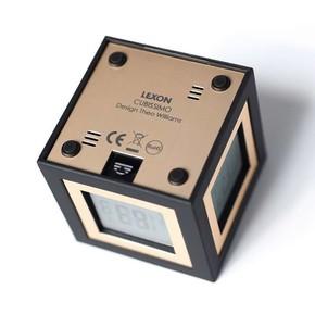 Lexon Cubissimo LCD 4 Ekran Saat Siyah - Thumbnail