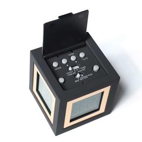 LEXON - Lexon Cubissimo LCD 4 Ekran Saat Siyah