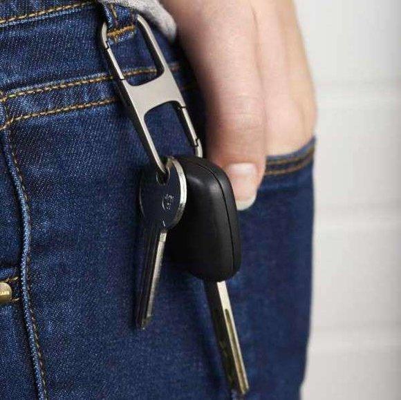 Lexon HOOK LL110X Anahtarlık Metalik Gri