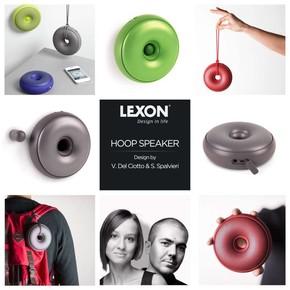 Lexon HOOP Bluetooth Hoparlör Siyah - Thumbnail