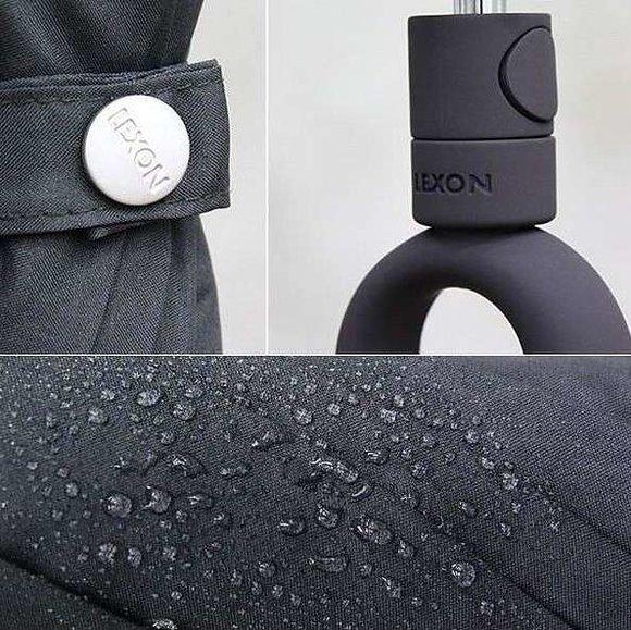 Lexon MINI HOOK LU21G3 Şemsiye Koyu Gri