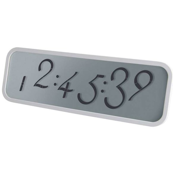 Lexon SCRIPT LCD Saat Beyaz