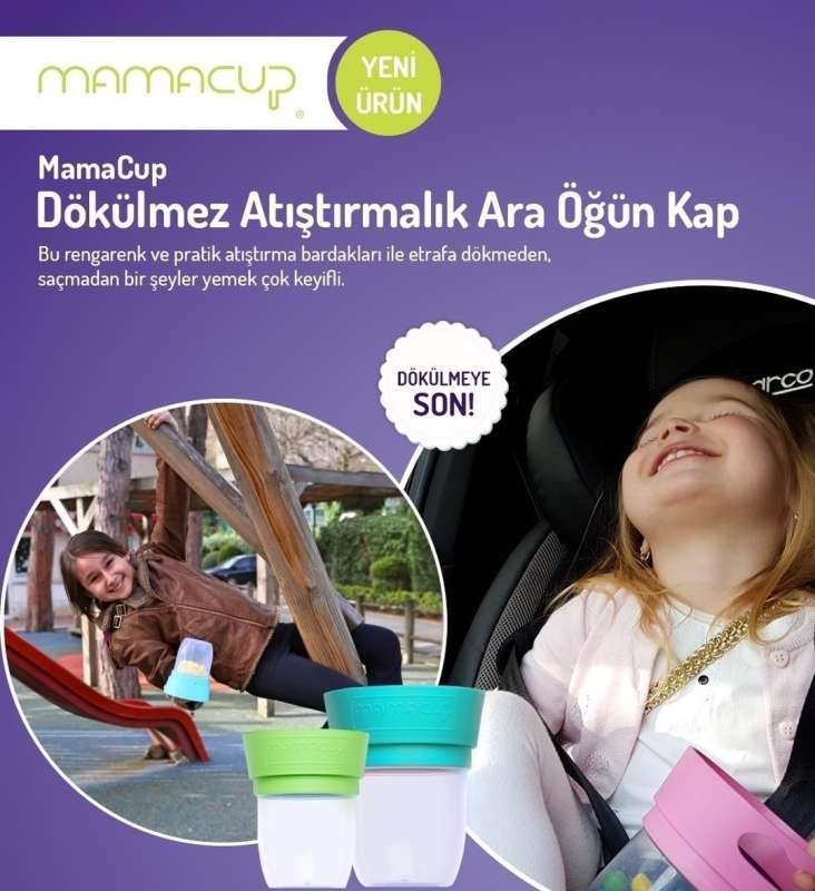 MamaCup Atıştırmalıklar için Dökülmeyen Kap