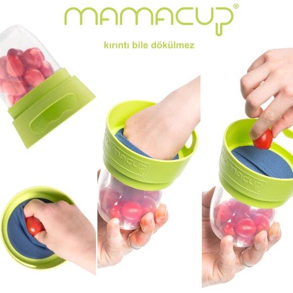 MamaCup Atıştırmalıklar için Dökülmeyen Kap Yeşil