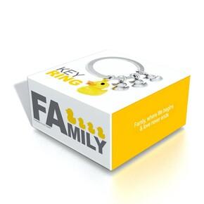 Metalmorphose FAmily Ördek Ailesi Anahtarlık - Thumbnail