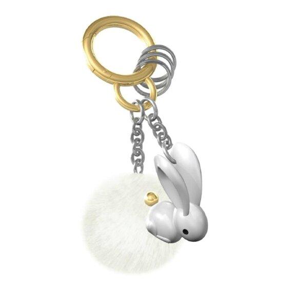 Metalmorphose BUnny Lover Peluşlu Tavşan Pomponlu Anahtarlık