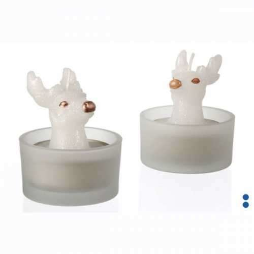 MINI Geyik Tealight Mum ve Mumluk