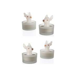 Montana Home Design - MINI Geyik Tealight Mum ve Mumluk 4 adet