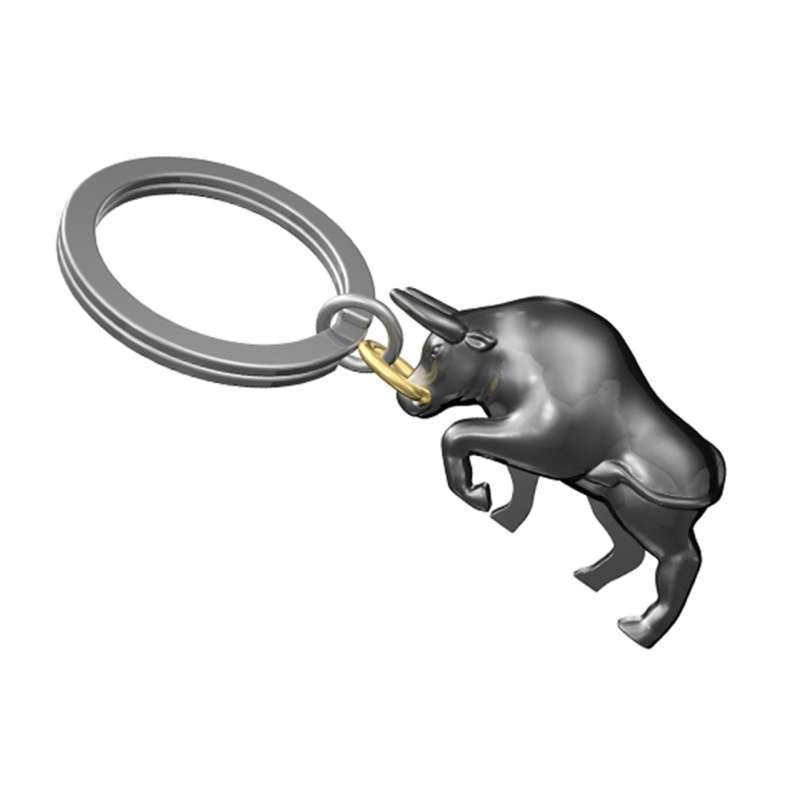 MTM Boğa Anahtarlık Metalik Gri