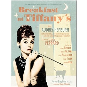 Nostalgic Art - Nostalgic Art Breakfast at Tiffany's Blue Magnet 14262