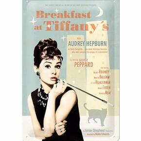 Nostalgic Art - Nostalgic Art Breakfast At Tiffany's Blue Metal Pano 20 x 30 cm