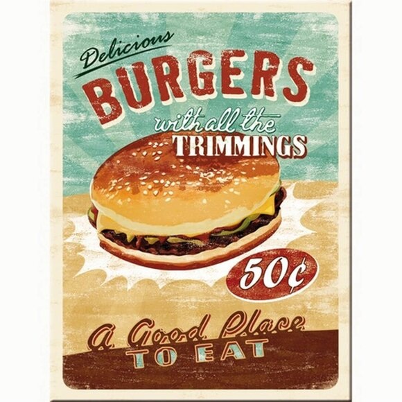 Nostalgic Art Burgers Magnet 14230