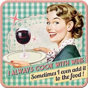 Nostalgic Art - Nostalgic Art Cook with Wine Bardak Altlığı