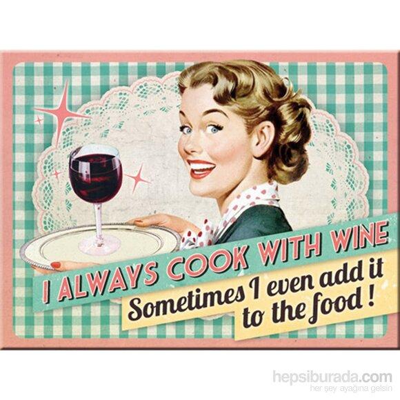 Nostalgic Art Cook with Wine Magnet 14280