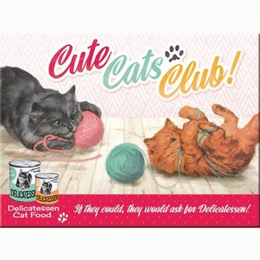 Nostalgic Art - Nostalgic Art Cute Cats Club Magnet 14275
